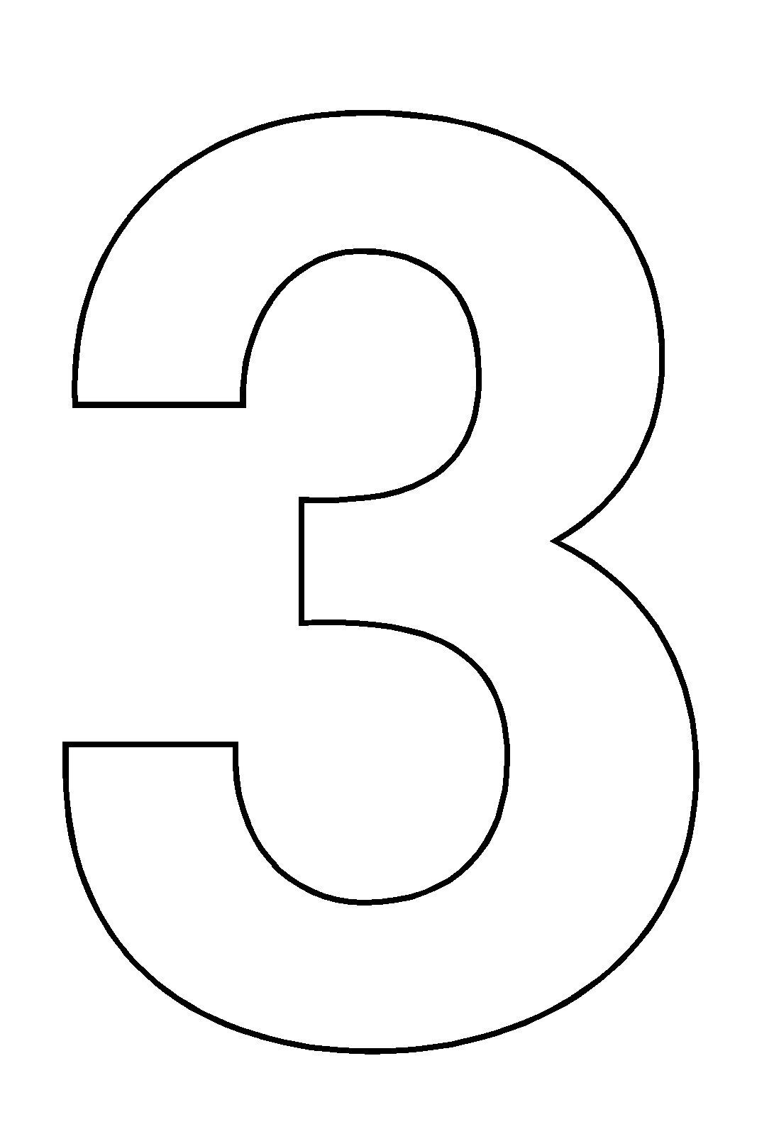 Coloriages A Imprimer Chiffre Trois Numero