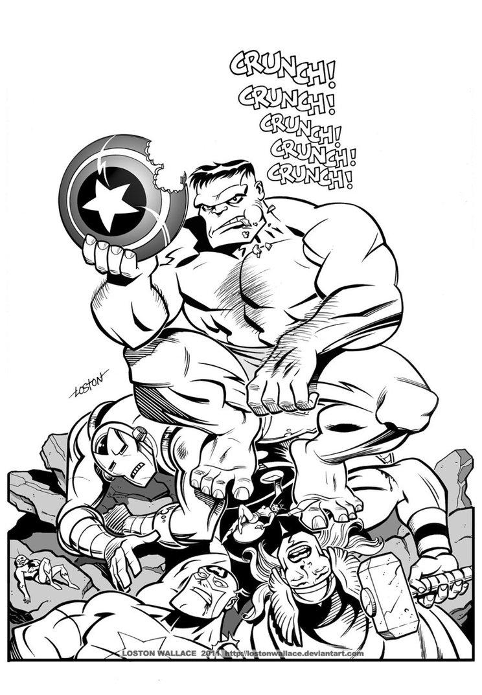 Coloriages Imprimer Avengers Numro 469798