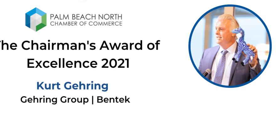 Congrats Kurt Gehring! Recipient of the Gaeta Chairman's Award of Excellence