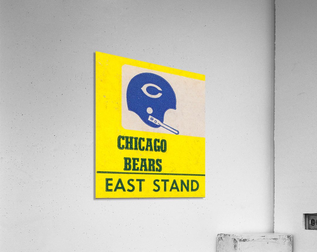 vintage chicago bears art poster metal canvas row one brand print