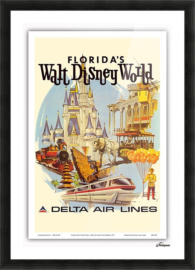 florida walt disney world delta air lines poster vintage poster print