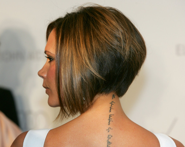 Victoria+Beckham in Celebrity Tattoos Victoria Beckham arrives at the 15th