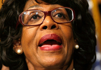Maxine Waters Congressional Black Caucus Holds Press Conference On Stimulus Bill