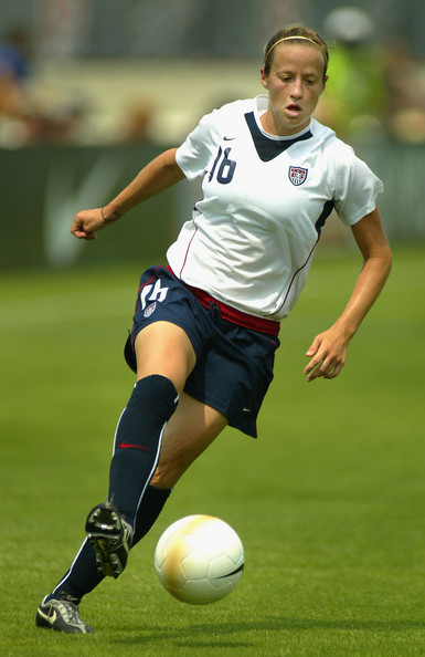 Megan Rapinoe Megan Rapinoe #16 of Team USA drives upfield with the ball against Team Ireland during the international women's soccer game held on July 23, 2006 at Torero Stadium in San Diego, California.   USA defeated Ireland 5-0.