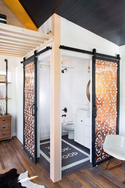 Barn Door Decor Barn Doors Bathroom You Look Good Primp Tiny House Home Design Interior Decorator Austin Texas Small Space