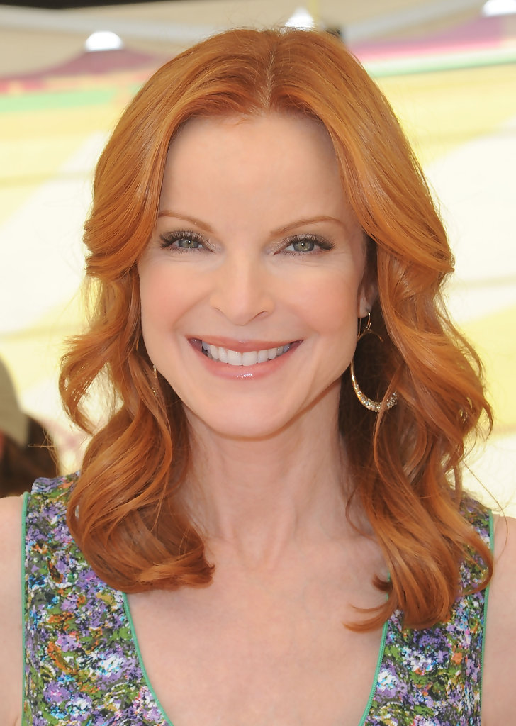 Marcia Cross Vibrant Red Haute Hairstyles For Women
