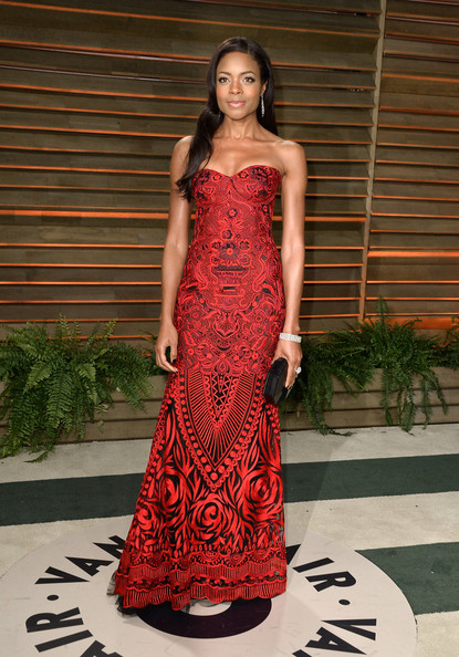 Naomie Harris Strapless Dress