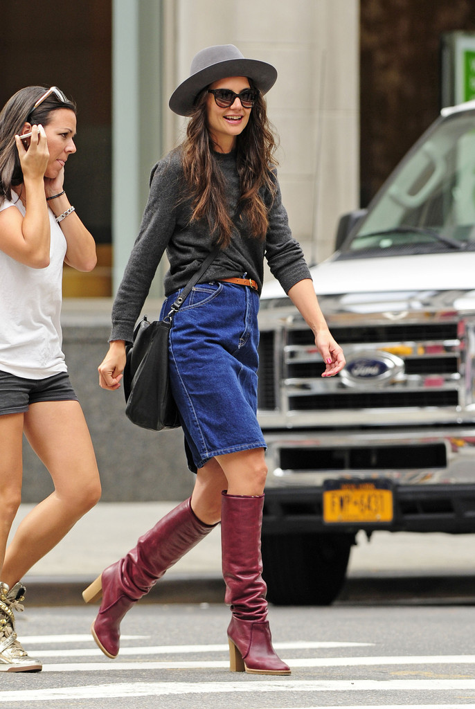 More Pics Of Katie Holmes Knee High Boots 4 Of 34