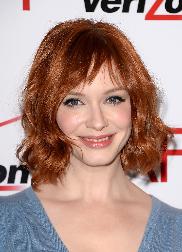 Christina Hendricks Short Wavy Cut Short Hairstyles