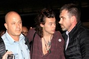 Harry Styles arrives at LAX.