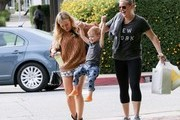 Hilary Duff gets lunch with her son.