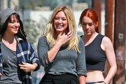 Singer Hilary Duff on set of her new music video for her song 'All About You' in Los Angeles, California on September 4, 2014. Despite recently saying her split with husband Mike Comrie has been 'difficult' he joined her on set and was seemingly following her around.