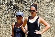 'Glee' actress Lea Michele enjoys a hike with her parents Marc & Edith at TreePeople Park in Beverly Hills, California on September 2, 2014. Lea recently returned from Puerto Vallarta, Mexico where she was celebrating her 28th birthday.