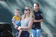 'Wild' actress Reese Witherspoon and her family stop by their new house to see how the construction is coming along in Pacific Palisades, California on February 15, 2015. A poll of Americans has picked Reese take home the best actress Oscar this year, though most pundits believe Julianne Moore is the favorite to win.