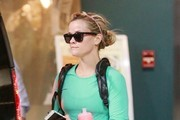 """""""Wild"""" star Reese Witherspoon leaves the gym after a morning workout on February 20, 2015 in Santa Monica, California. Reese must be trying to get in the best possible shape before squeezing into her Oscars dress this Sunday!"""