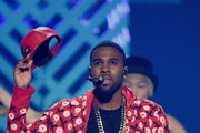 Singer Jason Derulo performs onstage during the 2014 iHeartRadio Music Festival at the MGM Grand Garden Arena on September 19, 2014 in Las Vegas, Nevada.