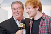 Radio personality Elvis Duran (L) and singer/songwriter Ed Sheeran (R) speak in the press room during the 2014 iHeartRadio Music Festival at the MGM Grand Garden Arena on September 20, 2014 in Las Vegas, Nevada.