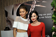 Honoree Zendaya (L) and actress Demi Lovato attend the 2nd Annual unite4:humanity presented by ALCATEL ONETOUCH at the Beverly Hilton Hotel on February 19, 2015 in Los Angeles, California.