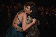 Recording Artist Taylor Swift and Kim Kardashian attend The 57th Annual GRAMMY Awards at the STAPLES Center on February 8, 2015 in Los Angeles, California.