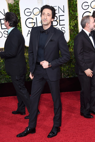 Actor Adrien Brody attends the 72nd Annual Golden Globe Awards at The Beverly Hilton Hotel on January 11, 2015 in Beverly Hills, California.