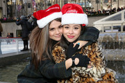 "Actresses Maia Mitchell and Cierra Ramirez attend ABC's ""25 Days Of Christmas"" Celebration at Cucina at Rockerfellar Center on December 7, 2014 in New York City."