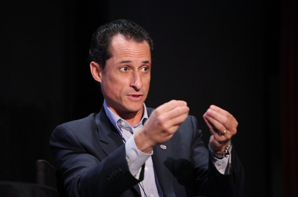 "Anthony Weiner Congressman Anthony Weiner speaks at ""Tea Party"" a panel discussion at the 2010 New Yorker Festival at DGA Theater on October 2, 2010 in New York City."
