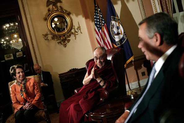 Dalai Lama The Dalai Lama (C) meets with U.S. Speaker of the House ...