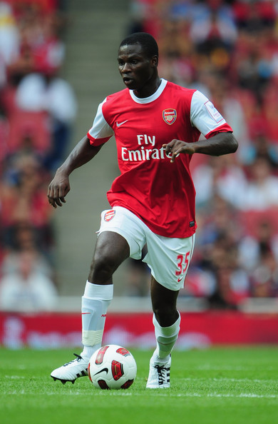 Emmanuel Frimpong Emmanuel Frimpong of Arsenal in action during the Emirates Cup match between Arsenal and AC Milan at Emirates Stadium on July 31, 2010 in London, England.