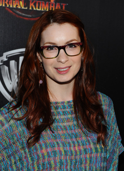 Felicia Day Actress Felicia Day arrives at the launch of Warner Bros. 'Mortal Kombat Legacy' at Saint Felix II on April 14, 2011 in Los Angeles, California.