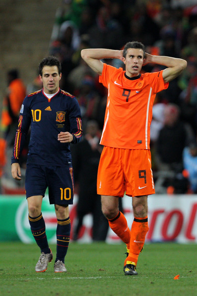 Robin Van Persie and Francesc Fabregas - Netherlands v Spain: 2010 FIFA World Cup Final