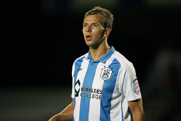 Jordan Rhodes Jordan Rhodes of Huddersfield Town in action during the Johnstone's Paint Trophy 1st round match between Northampton Town and Huddersfield Town at Sixfields Stadium on August 30, 2011 in Northampton, England.