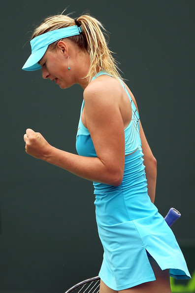 Maria Sharapova Maria Sharapova of Russia reacts against Samantha Stosur of Australia during the Sony Ericsson Open at Crandon Park Tennis Center on March 28, 2011 in Key Biscayne, Florida.