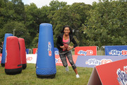 """Actress Sydney Park of """"Instant Mom"""" participates in activities as she attends Nickelodeon's 11th Annual Worldwide Day of Play at Prospect Park on September 20, 2014 in New York City."""