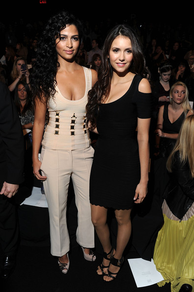 Nina Dobrev - Herve Leger By Max Azria - Front Row - Fall 2012 Mercedes-Benz Fashion Week