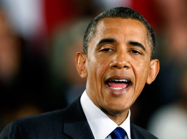 Barack Obama in Obama Gives A Speech On Economy In Las ...