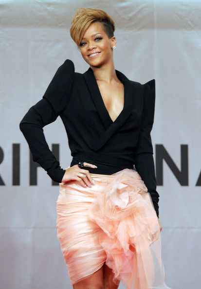 "Singer Rihanna attends at press conference to promote her latest album ""Rated R"" at Intercontinental hotel on February 11, 2010 in Seoul, South Korea."