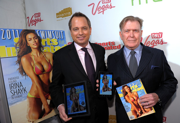Terry McDonell President of Sports Illustrated Group Mark Ford and Editor of Sports Illustrated Group Terry McDonnell attend the SI Swimsuit Launch Party hosted By Pranna at Pranna Restaurant on February 15, 2011 in New York City.