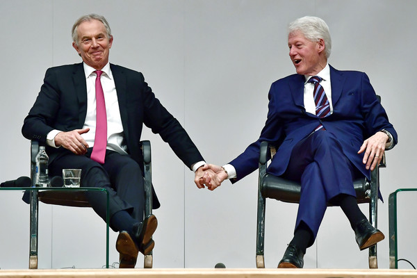 Image result for tony blair bill clinton holding hands