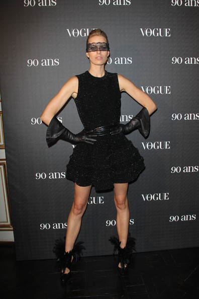 Karolina Kurkova attends Vogue 90th Anniversary Party at Hotel Pozzo di Borgo on September 30, 2010 in Paris, France.