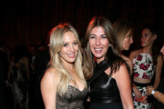 Singer Hilary Duff (L) and tv personality Nina Garcia attend The Weinstein Company & Netflix's 2015 Golden Globes After Party presented by FIJI Water, Lexus, Laura Mercier and Marie Claire at The Beverly Hilton Hotel on January 11, 2015 in Beverly Hills, California.