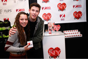 A guest and musician Shawn Mendes attend the Z100's Artist Gift Lounge presented by Goldfish Puffs at Z100's Jingle Ball 2014 at Madison Square Garden on December 12, 2014 in New York City.