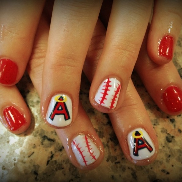 Here Are 10 Cute Baseball Nail Art Ideas