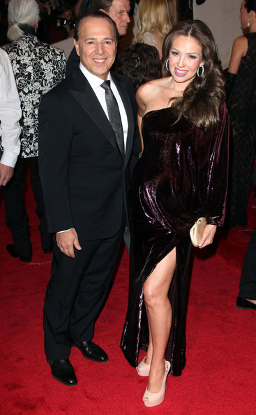 Thalia and Tommy Mottola - The Costume Institute Gala celebrating Alexander McQueen in New York