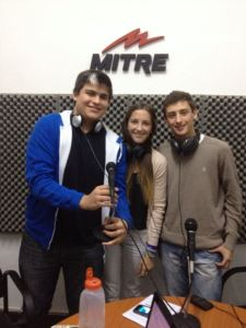 MY World student leaders being interviewed on the radio