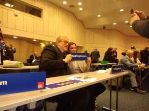 Europadelegiertenkonferenz Jens Bennarend und Vjola Shala-min