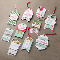 Oh What Fun Kit projet Tag par Stampin 'Up!
