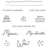 Clear-Mont Cachet Set de Souhaits (français) par Stampin 'Up!