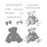 Ensemble de timbres en photopolymère Bébé ourson (français)