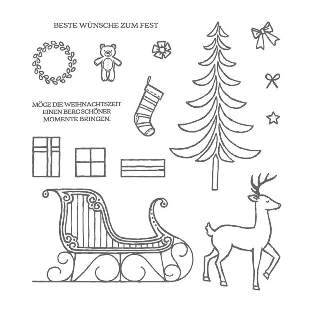 Stempelset 143125 Weihnachtsschlitten Image