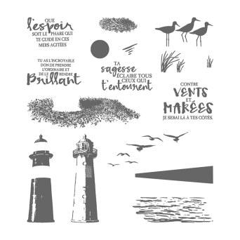 Ensemble de timbres en photopolymère Marée Haute (français)